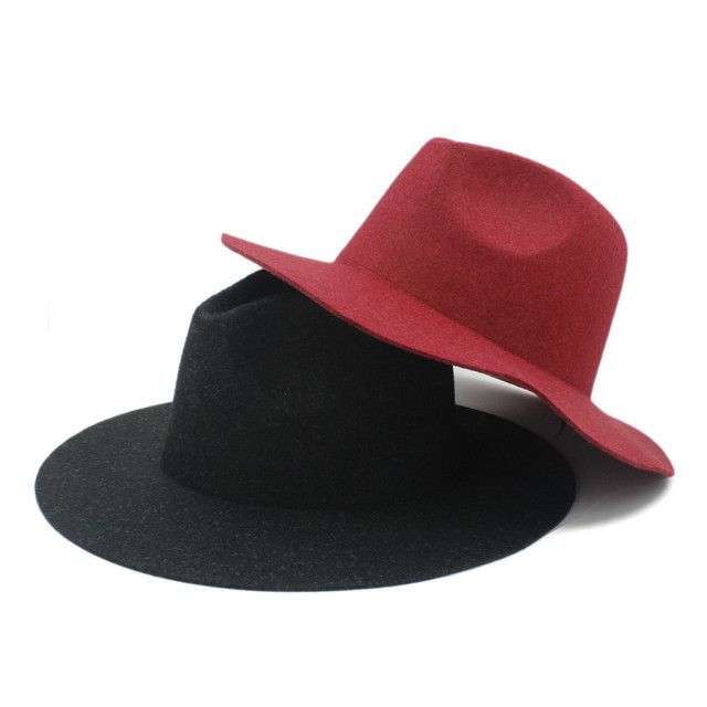 4ea0305b80d88 100% Hemp Wool Wide Brim Winter Autumn Floppy Felt Trilby fedora Hat For  Elegant Womem Ladies Top Cloche Panama Cap