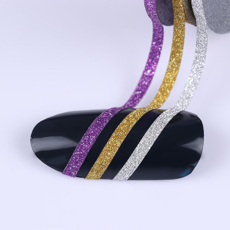 2 мм матовый блеск для ногтей, Чередование ленты линия разноцветные, для ногтей инструмент для укладки волос Стикеры наклейка DIY украшения для ногтей