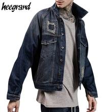 HEE GRAND Men's Jecket 2017 New Fashion Hip Hop jackets Male Streetwear Denim Jeans Jacket Men Top Quality Casual Coat MWJ2359