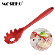 MOSEKO термостойкая силиконовая посуда ложка для лапши лопатка для макарон дуршлаг шпатель спагетти сливной фильтр половник-дуршлаг