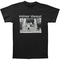 Minor Threat Salada Dias T-shirt Preto dos homens 2018 Nova Moda Camisas do T dos homens de Manga Curta de Moda Clássico Top Tee Mais tamanho