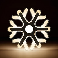DAR Snow Flake Ceiling Light Ultra Thin Acrylic Modern Led Ceiling Lamp Lights Dia 20cm 42cm