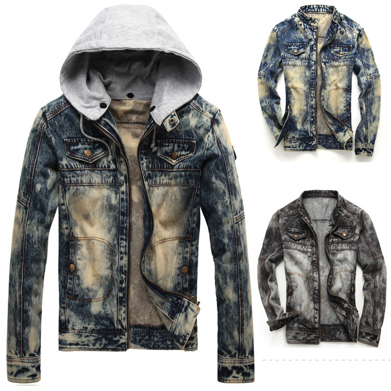 2016 New Fashion Fall Man Cool Denim Jacket Coat , Mens Slim Fit ...