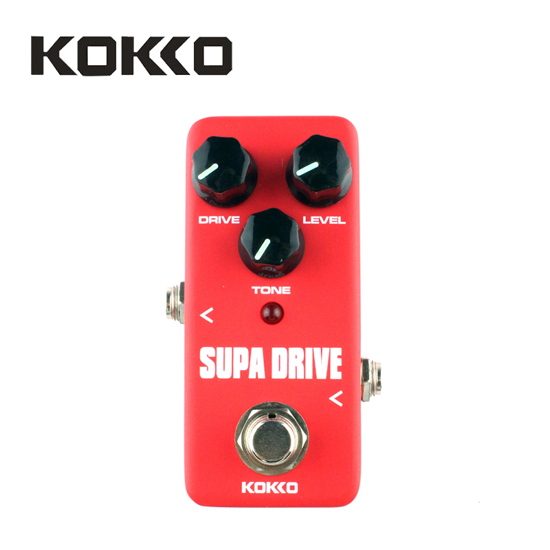 KOKKO FOD5 Mini Pedal Vintage Supa Drive Guitar Effect Pedal with True Bypass, Red Guitar Parts & Accessories abt 3 black teeth vintage distortion guitar effect pedal aroma mini size pedals with true bypass guitar accessories