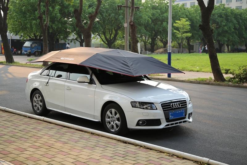 2016 New Outlet Mai cattle automatic car hood sun shade umbrellas awning car sun umbrella 63 rose de mai