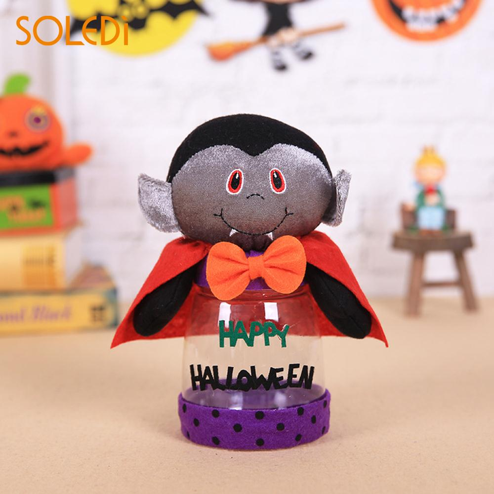 aliexpresscom buy 2018 halloween gift box novelty transparent halloween candy jar gift plastic chocolate halloween cookie can office drop shipping from