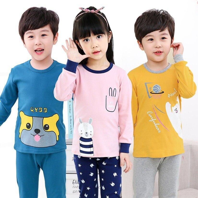 Kids   Pajamas     Sets   Boys Sleepwear Spring Baby Girl Clothes Suit Children Cartoon Girls Pyjamas Kids Cotton Nightwear Home 2-13Y