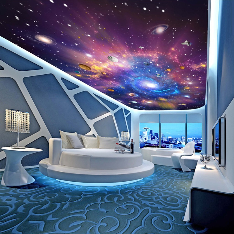 Custom 3D Photo Wallpaper Star Universe Galaxy Room Suspended Ceiling Wall  Painting Living Room Bedroom Wallpaper Home Decor In Wallpapers From Home  ...