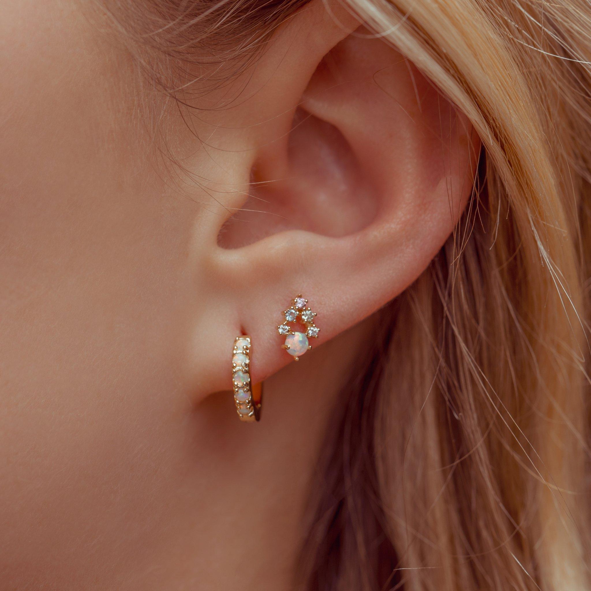 Teardrop Hoop Earrings Women Glitter Scrub Crystal Drop Hook Party Cool Stud Huggie Clip On Girls Rose Gold Or Sterling Silver Girls Earrings