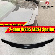 For Mercedes Benz W205 FRP Unpainted C74 style Trunk spoiler wing C class C180 C200 C250 C63 Look Rear 2015-18