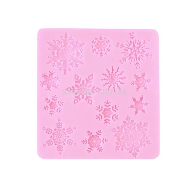 WEIHNACHTEN Schneeflocke Kuchen Dekoration Form Silikon Spitze Mold ...