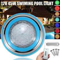1 PC 45 W LED RGB אור מתחת למים בריכת בריכת שחייה חיצונית 12 V עמיד למים דקורטיביים LED תאורה + מרחוק שליטה