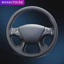 Car Braid On The Steering Wheel Cover for Infiniti JX35 M M25 M35 M37 M56 Q70 QX60 Nissan Murano Pathfinder Auto Car-styling