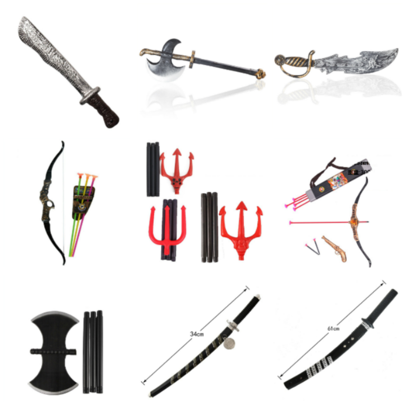Simulation Weapon Anime Cosplay for Pirate Bow and Arrow Ninja Sword Samurai Sword Vestidos Costumes Adult in Halloween Carnival