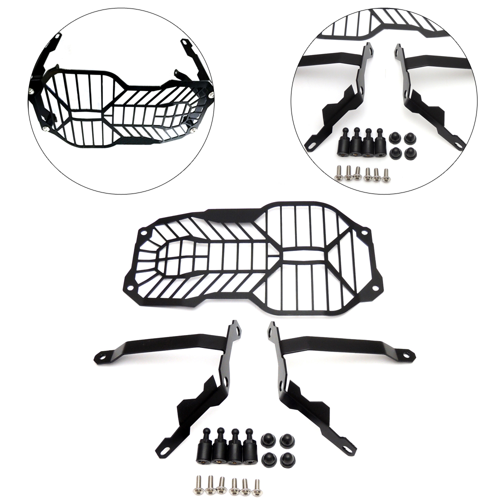 For BMW R1200GS Headlight Grille Guard Cover Protector R1200 GS ADV Adventure (Water Cooled) 2012 2013 2014 2015 2016 Parts 2017 hot motorcycle accessories grille radiator cover protection cnc aluminum for bmw r1200gs r1200 gs adv 2013 2014 2015 2016