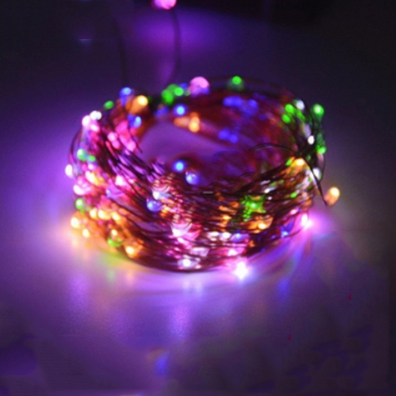 SPLEVISI 50M 164Ft 500 Led Light Copper LED Light String Light Starry - Pencahayaan perayaan - Foto 5