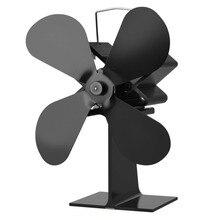 4 лопасти Тепловая плита вентилятор кастаньеты горелки Ecofan тихий черный Домашний Вентилятор для камина эффективное распределение тепла