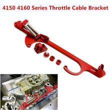 4150 4160 Series Red Billet Aluminum Throttle Cable Carb Bracket Carburetor 350