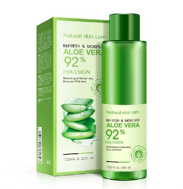 BIOAQUA aloe vera Hidratante Esencia Loción crema Emulsión 120 ml acné Blanqueamiento solución de Cuidado de la piel Cara