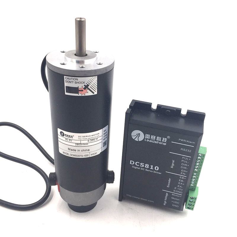 DC Brushed Servo Motor Drive Kit 120W 50oz-in 0.35Nm 2900RPM 18~80VDC DCM50207D-1000+DCS810 Differential Encoder New smt motor sanyo denki l404 011e17 dc servo motor genuine new