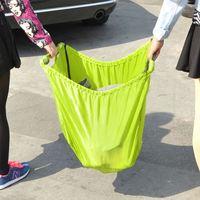 Foldable Reusable Grocery Storage Bags Green Waterproof Nylon Reusable Supermarket Shopping Bag Travel Portable Sundries Bag