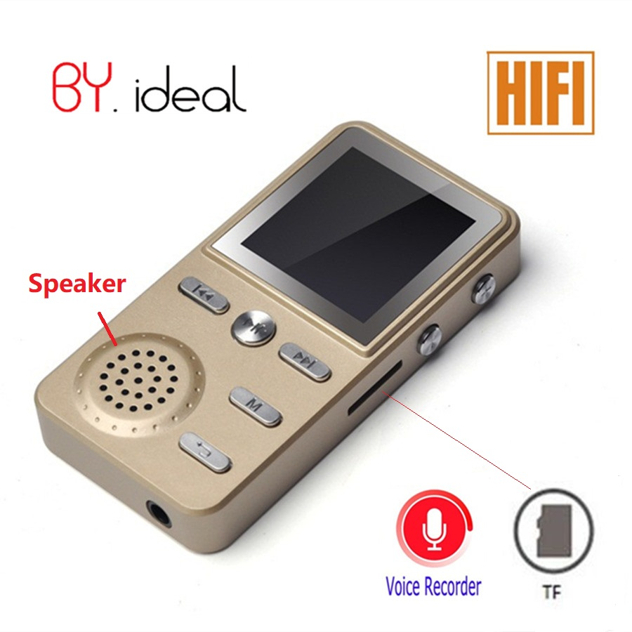 HiFi Metal MP4 Player Built in Speaker 4GB 1.8 Inch Screen Play 60 hours with E book Audio Media Video Player Portable Walkman