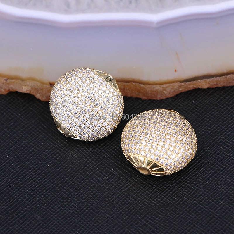 5ชิ้นZYZ183-0004ไมโครปูCZลูกปัดทองแดง,ผสมสีรอบบอลลูกปัดFitแฟชั่นสร้อยข้อมือพบเครื่องประดับDIYเว้นวรรคลูกปัด