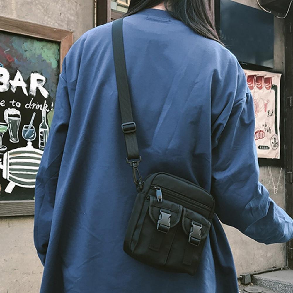 Leisure Shopping Travel Canvas Shoulder Bag Kettle Purse Inclined  Shoulder Bag Men Tactical Pouch Belt Waist Pack Small Pocket