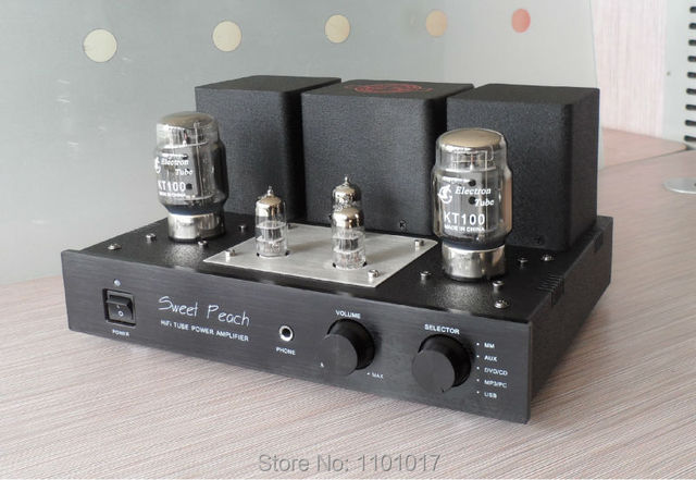 US $302 67 10% OFF|XiangSheng Sweet Peach SP KT88 6550 Tube Amplifier HIFI  EXQUIS Signal ended Amp MM Phono Stage Headphone SP 6550-in Amplifier from