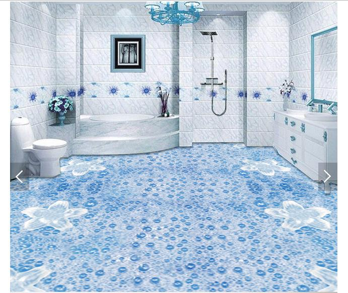 3d wallpaper Custom 3d  floor painting wallpaper 3 d stereo floor water droplets murals wall  3d living room photo wallpaper