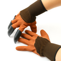 Hot Sell 2 Pair Multi Color Rubber Upgrade Version Gardening Glove Garden Gloves For Digging Planting
