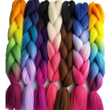 1Pack Pervado Hair Ombre Jumbo Braids Hair Extensions 24″ 100G High Temperature Fiber Synthetic Grey Braiding Crochet Hairstyle