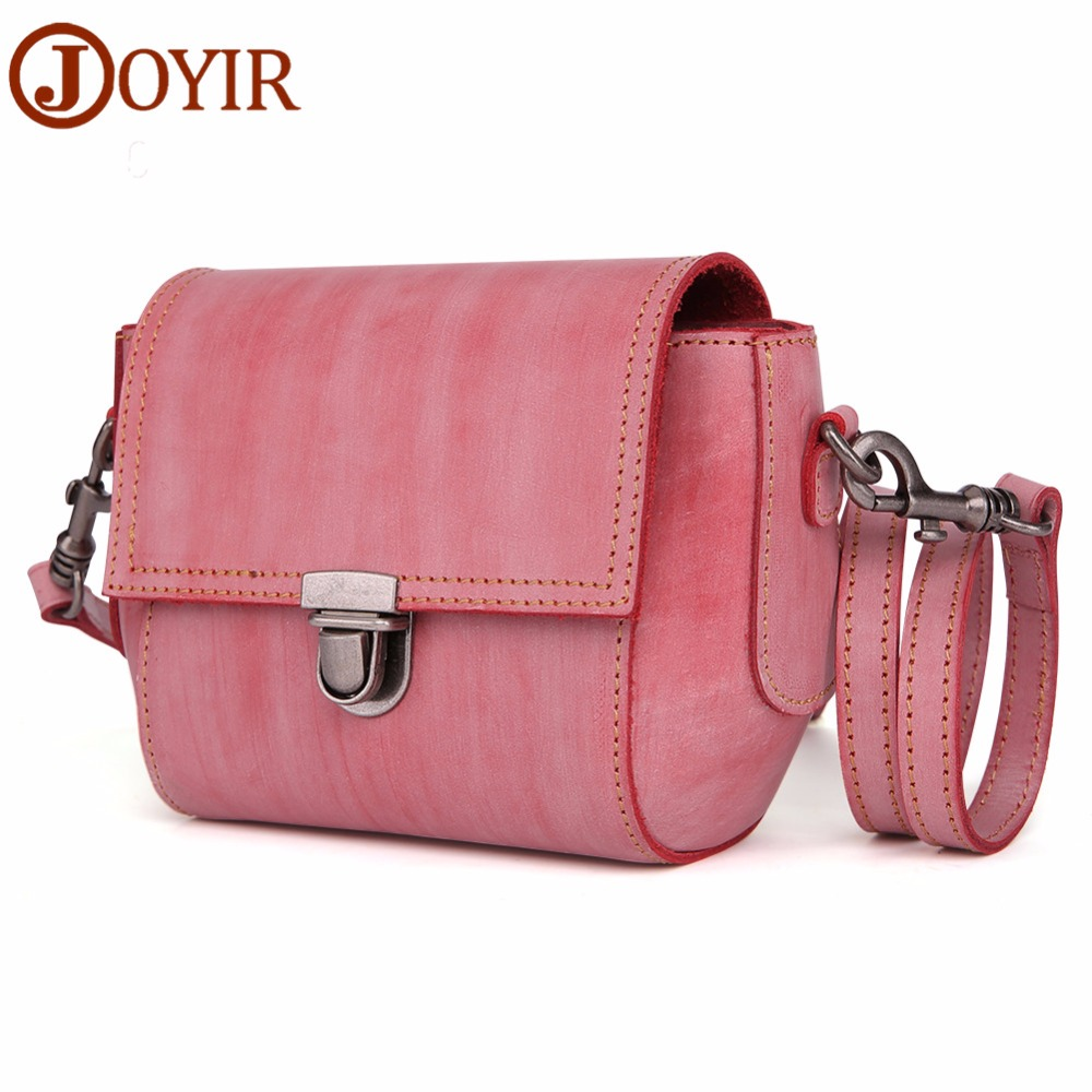 купить JOYIR Genuine Leather Crossbody Bags For Women Casual Flap Ladies Evening Bag Women Shoulder Messenger Crossbody Bag for Girls онлайн
