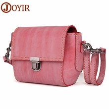 JOYIR Genuine Leather Crossbody Bags For Women Casual Flap Ladies Evening Bag Shoulder Messenger for Girls
