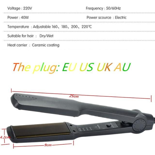 Straightening Irons Fast Warm-up Thermal Performance Professional Tourmaline Ceramic Heating Plate Hair Straightener 2
