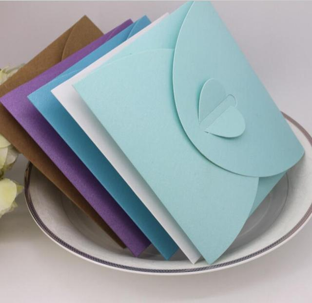 50pcs Tiffany Blue heart shape wedding party birthday  CD DVD disc paper box Festive Party Supplies