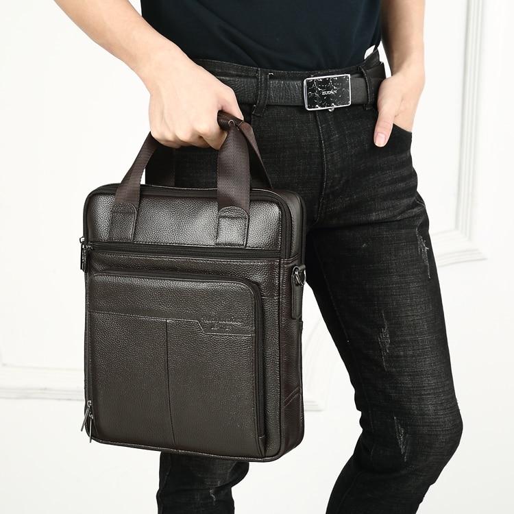 HTB18nbNCbGYBuNjy0Foq6AiBFXag MEIGARDASS Genuine Leather Business Briefcase Men Travel Shoulder Messenger Bags Male Document Handbags Laptop Computer Bag