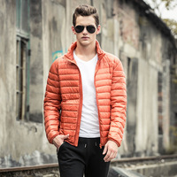 Hooded Ultra Thin Lightweight White Duck Down Jackets Men Down Coats 2018 Autumn New Arrival Plus
