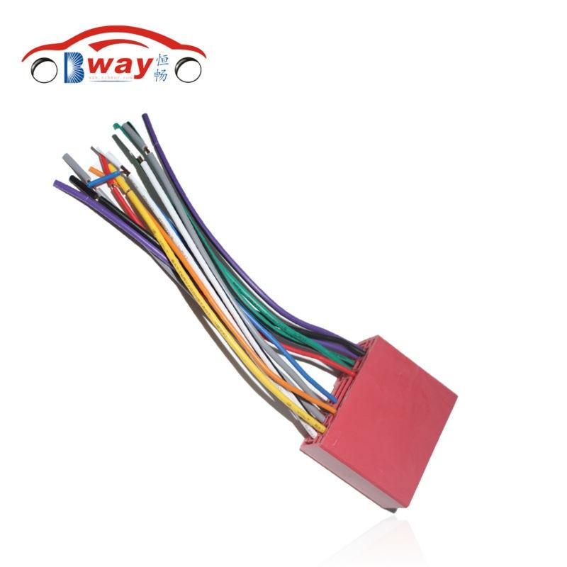 Car Radio Stereo Female ISO Plug Power Adapter Wiring Harness for Mazda 2 Mazda 3 Mazda
