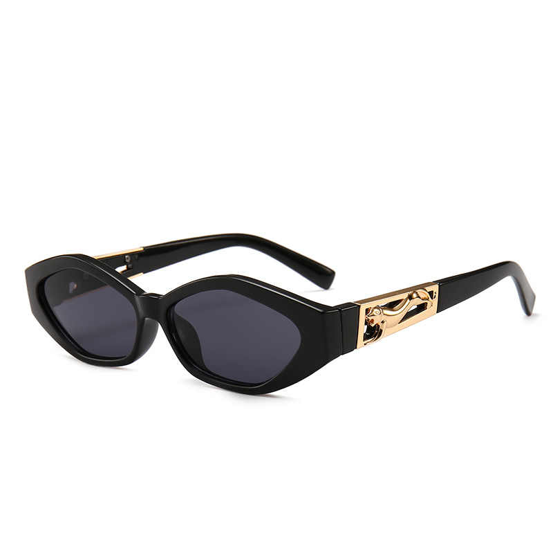 5adccfa6a27 ... mimiyou Retro Cat Eye Sunglasses Women Golden Leopard Sun Glasses Lady Vintage  Fashion Glasses Shades Brand ...