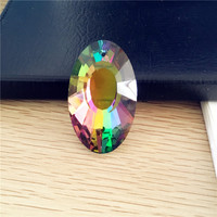 10pcs K9 Glass 50mm Crystal Prisms Pendants Chandeliers Parts Lustres Rainbow Lamp Lighting Hang Drops For