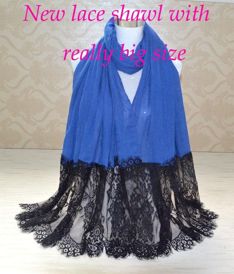 Модные женские шарфы, хлопковый кружевной шарф, обычный хиджаб, мусульманский хиджаб, бандана, шали и шарфы, мусульманский глушитель, зимняя накидка, обертка
