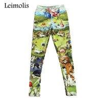 Leimolis 3d печать дистанционного свидания Harajuku Панк Высокая талия ВОРКАУТ, отжимания спандекс размер плюс фитнес женские лекинсы штаны