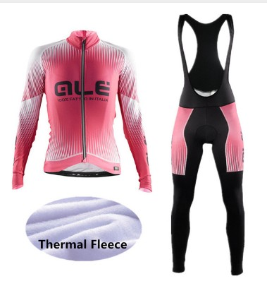 2017 Women Winter FUQVLUN Cycling Jersey Long Sleeve ALE Bike Clothes Thermal Fleece Ropa Roupa Invierno Bicycle Clothing -V5F4