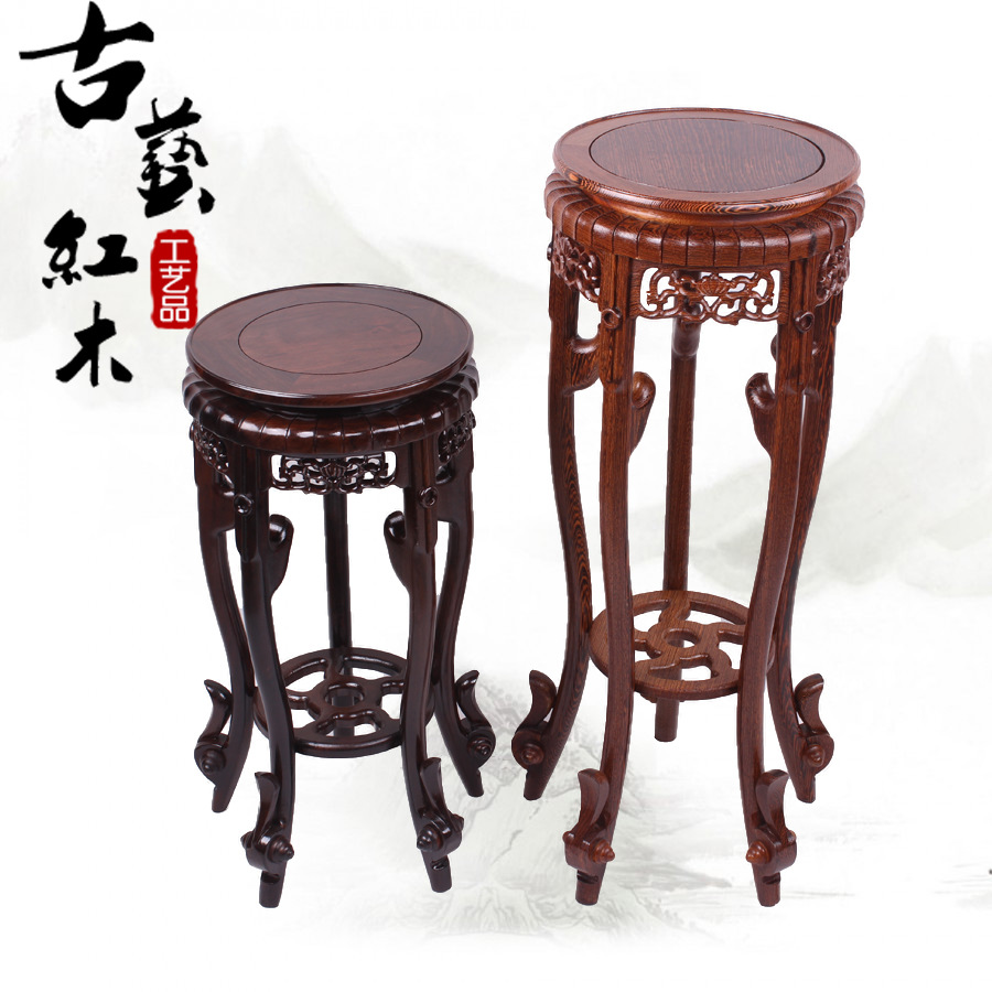 Mahogany furniture wenge Ebony Black and Purple round flower Classical carved mahogany interior wood furniture Flower  цены