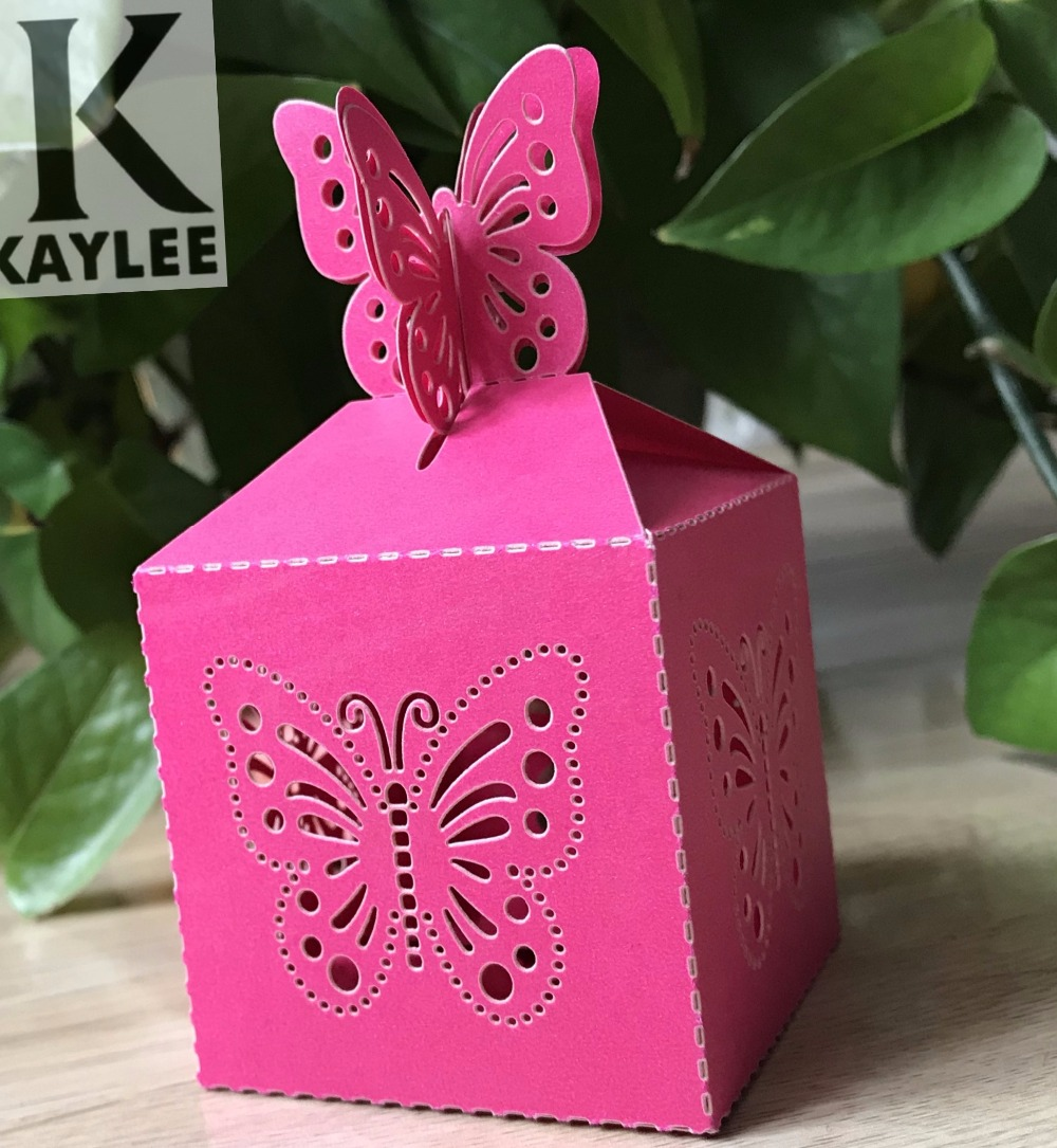 100pcs Butterfly Design Handmade Wedding Favors Boxes Fashion ...