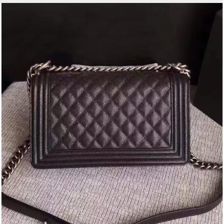 top quality women caviar leather handbags brand crossbody bags bolsa feminina chain shoulder bag elishacoy caviar
