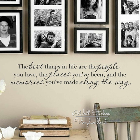the best things in life quote wall sticker home wall quotes vinyl