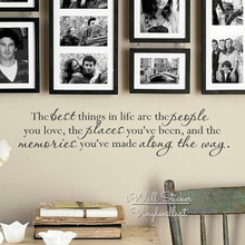 The Best Things In Life Quote Wall Sticker Home Quotes Vinyl Lettering Easy Art Decal DIY Removable Cut Q215