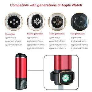 Image 3 - Bank mocy 5200 mAh przenośna ładowarka do telefonu komórkowego 3 In1 bezprzewodowa ładowarka banku mocy dla iPhone AirPods Apple Watch Series 4/3/2/1